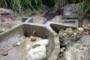 The Water Project: Chegulo Community, Shakava Spring -  Spring Construction