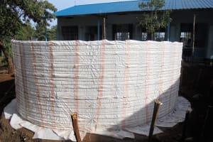 The Water Project: Digula Secondary School -  Tank Walls