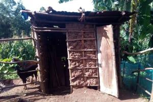 The Water Project: Gidagadi Community, Anusu Spring -  Latrines