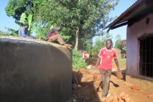 The Water Project: Lwangele Primary School -  Tank Construction