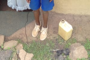 The Water Project: Irungu Community, Irungu Spring -  Allan Ombati A Student Who Uses The Spring