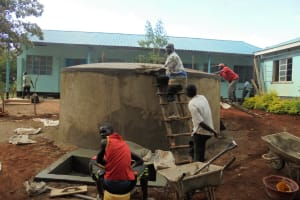 The Water Project: Digula Secondary School -  Tank Is Almost Done