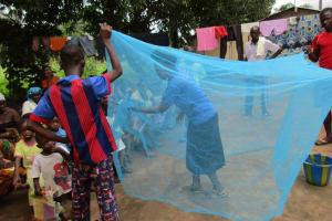 The Water Project: Royema Community A -  Mosquito Net Demo