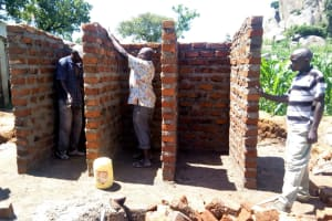 The Water Project: Kalenda Primary School -  Latrine Construction