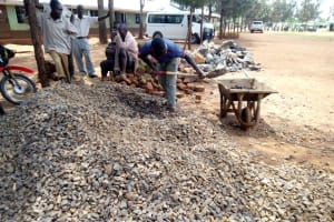 The Water Project: Walodeya Primary School -  Construction