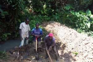 The Water Project: Hondolo Community, Musila Spring -  Construction