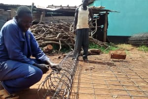 The Water Project: Ebukanga Secondary School -  Wire For Wall Support