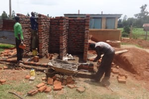 The Water Project: Emukangu Primary School, Butere -  Latrine Construction