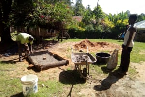 The Water Project: Bukhakunga Community, Indiatsi Omukitsa Spring -  Sanitation Platform Construction