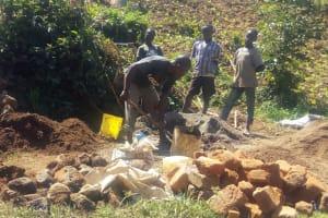 The Water Project: Mumuli Community, Shalolwa Spring -  Construction