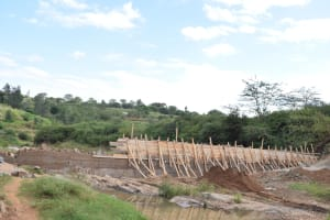 The Water Project: Kaani Community D -  Construction