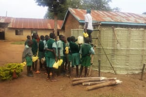 The Water Project: Eshilakwe Primary School -  Construction