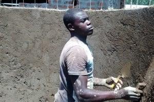 The Water Project: Ebukanga Secondary School -  Tank Wall