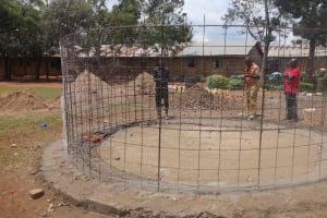 The Water Project: Emukangu Primary School, Butere -  Wire Structure For Wall