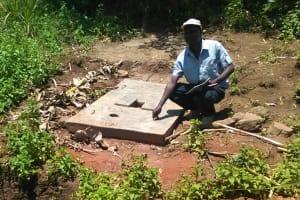 The Water Project: Mumuli Community, Shalolwa Spring -  Sanitation Platform