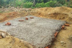 The Water Project: Eshilakwe Primary School -  Latrine Foundation Drying