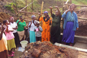 The Water Project: Bushevo Community, David Enani Spring -  Clean Water