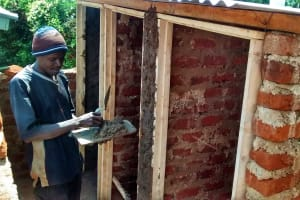 The Water Project: Essunza Primary School -  Latrine Construction