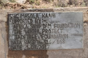 The Water Project: Kaani Community D -  Finished Sand Dam