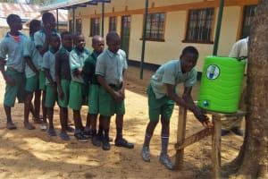 The Water Project: Eshilakwe Primary School -  Hand Washing Station