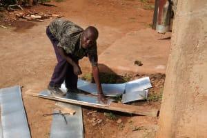 The Water Project: Ebukanga Secondary School -  Making Gutters