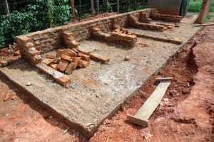The Water Project: Emurembe Primary School -  Latrine Construction