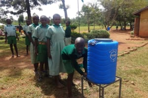 The Water Project: Emukangu Primary School, Butere -  Hand Washing Station
