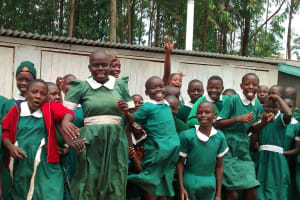 The Water Project: Emurembe Primary School -  Finished Latrines