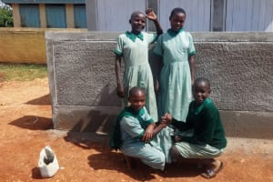 The Water Project: Emukangu Primary School, Butere -  Finished Latrine