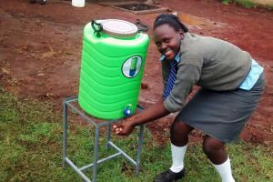 The Water Project: Ebukanga Secondary School -  Hand Washing Station