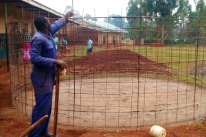 The Water Project: Essunza Primary School -  Mesh Layer Of Wall