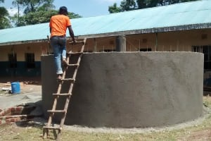 The Water Project: Essunza Primary School -  Tank Construction