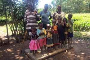 The Water Project: Hondolo Community, Musila Spring -  Sanitation Platform
