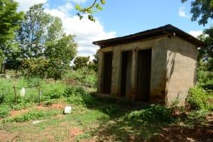 The Water Project: Kathama Community -  Antony Mwaluko Latrines