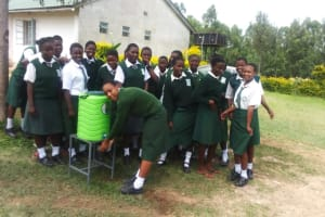 The Water Project: Ibinzo Girls Secondary School -  Hand Washing