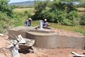 The Water Project: Ngaa Community A -  Well Construction