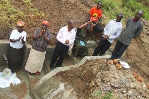 The Water Project: Bushevo Community, David Enani Spring -  Training