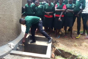 The Water Project: St. Kizito Lusumu Secondary School -  Tank Management Training