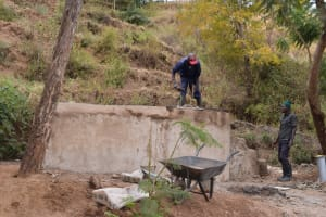 The Water Project: Kaani Community E -  Well Construction