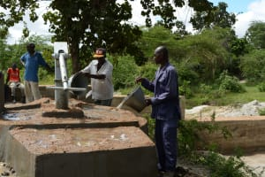 The Water Project: Kivani Community A -  Finished Well