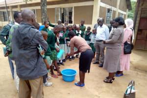 The Water Project: Eshilakwe Primary School -  Hand Washing