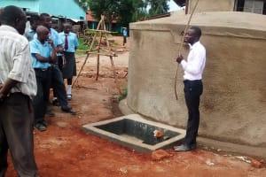 The Water Project: Ebukanga Secondary School -  Tank Demonstration