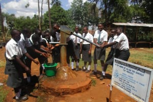 The Water Project: Tulon Secondary School -  Seasonal Hand Dug Well Near Latrines