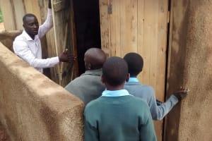 The Water Project: Ebukanga Secondary School -  Latrine Management Training