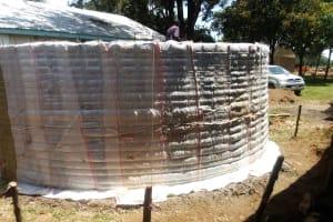 The Water Project: St. Kizito Lusumu Secondary School -  Tank Construction