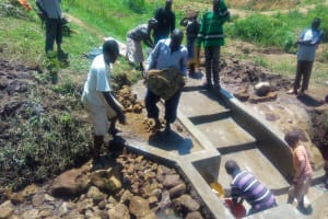 The Water Project: Ebung'ayo Community, Wycliffe Spring -  Construction