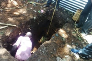The Water Project: St. Kizito Lusumu Secondary School -  Sinking A Latrine Pit