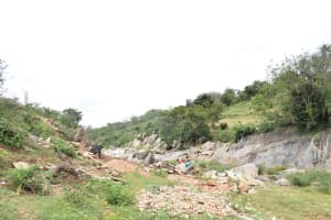 The Water Project: Kaani Community B -  Collecting Materials