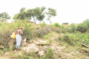 The Water Project: Kithuluni Community A -  Carrying Water