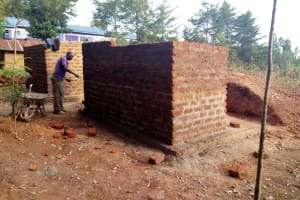 The Water Project: Eregi Mixed Primary School -  Latrine Construction
